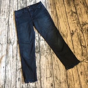 Lucky Brand Crop Fringe Jeans - 6